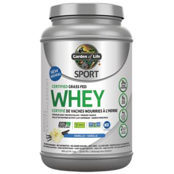 Commandez protéine isolat whey biologique à la vanille, Garden of life