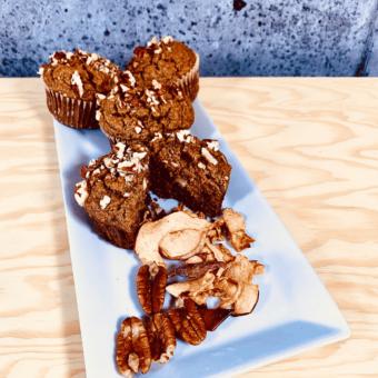 Commandez collation santé muffins pois chiche pomme, cannelle, sans lactose, sans gluten