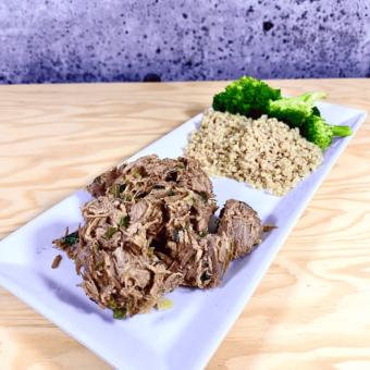 Commandez repas santé prêt à manger au bœuf effiloché-gingembre