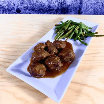 Commandez repas prêt à manger boulettes porc et veau bio