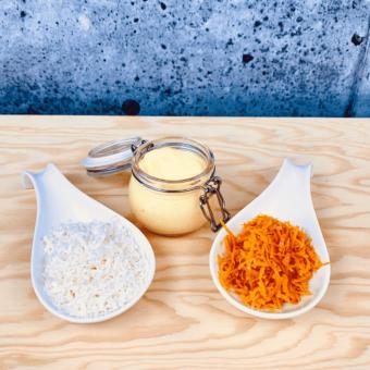 Commandez collation santé sauce coco orange, sans lactose